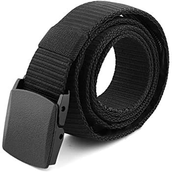 SUOSDEY Military Style Web Belt Outdoor Unisex Nylon belt Tactical with Plastic Buckle