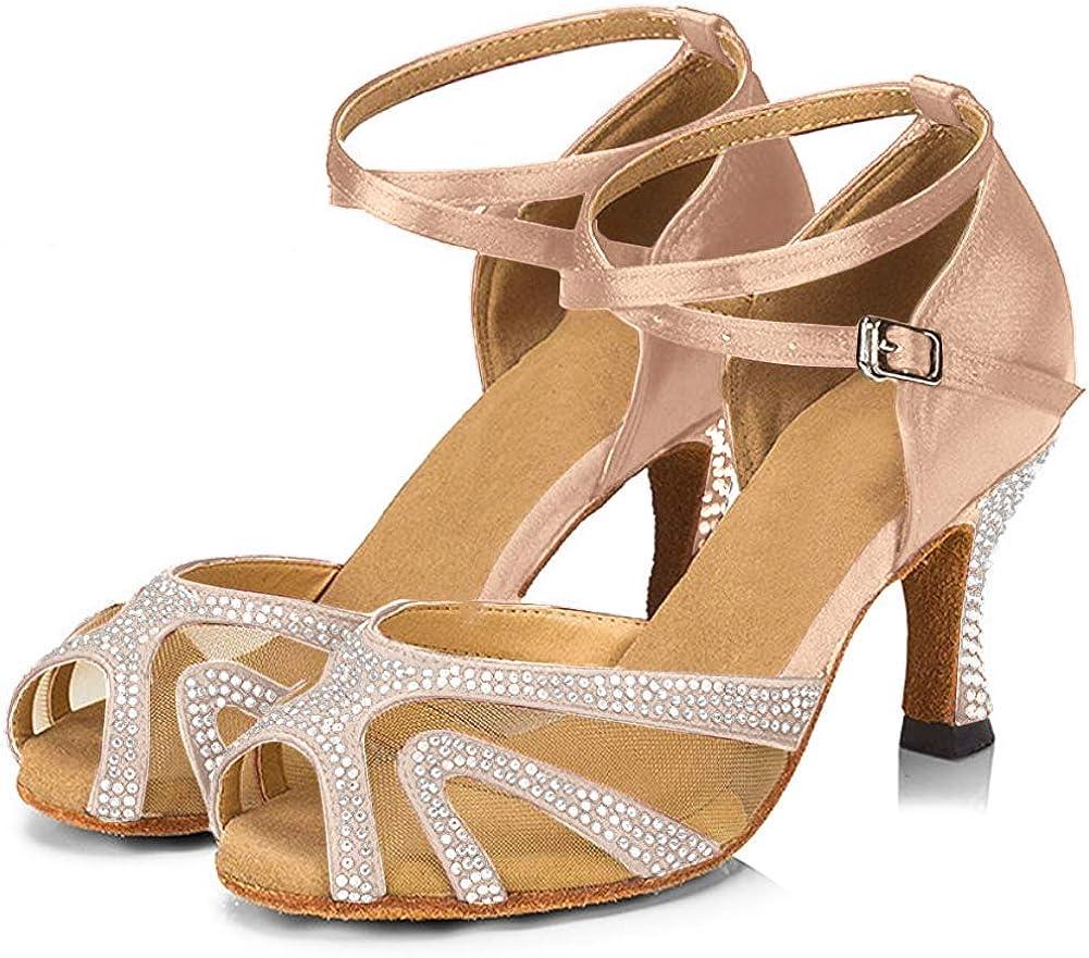 TTdancewear Rhinestones Max 72% OFF Ballroom Fashion Dance Shoes Women B Salsa Latin
