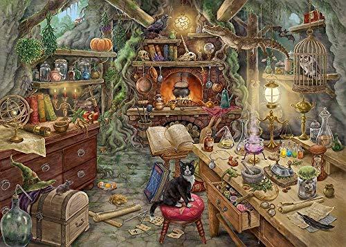 FDHGF Puzzle Adulto 1000 Piezas,Regalo de Juguete Juego Educativo para niños,Cocina de la Bruja,Varios Patrones Soporte de personalización de imágenes.