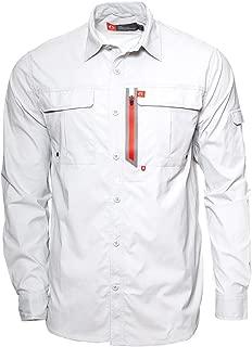 Men's Long-Sleeve Fishing Shirt Blackfoot River, Moisture-Wicking Button-Up Clothes/Apparel