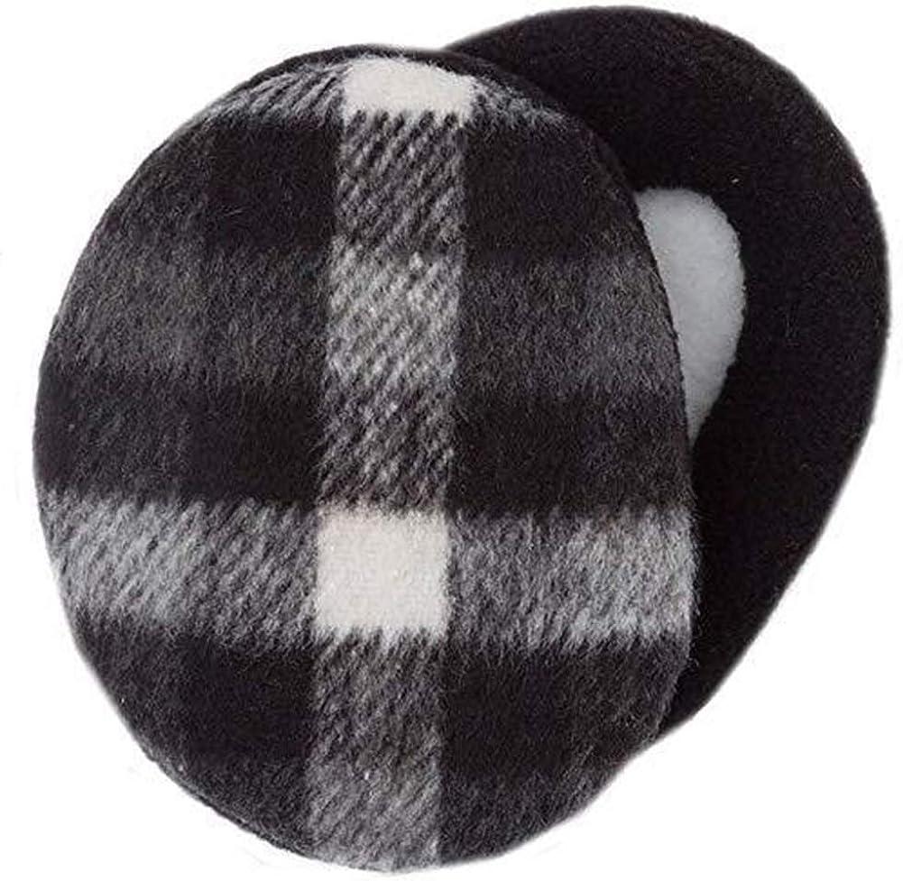 Melodyblue Warm Earmuffs Independent Earmuffs Single Ear Warmer Earmuffs Men's Earmuffs Children's Ear Warmers-Black and White