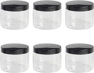 6PCS Bocaux en Plastique Transparent, Bocal Plastique avec Couvercle, Bocaux de Rangement Plastique Scellés, Pot de Stocka...