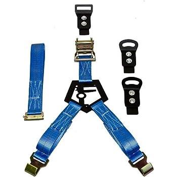 N-Fab BM1TSBL Rapid Tire Strap Universal Bed Mount Gloss Blue,Gloss Black
