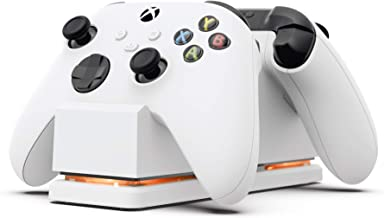 PowerA Dual Charging Station for Xbox - White, Wireless Controller Charging, Charge, Rechargeable Battery, Xbox Series X S...