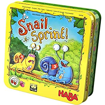 HABA Snail Sprint - Creep Crawl and Race to The Finish Line in This Secret Identity Roll & Move Game of Luck and Choice for Ages 5+