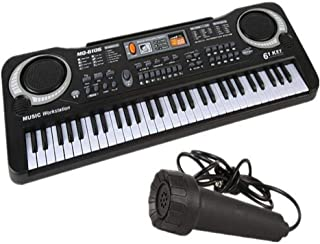 Multi-function 61 Keys Keyboard electronic organ with Microphone Music Simulation Piano Children Toys educational Toy Kids...