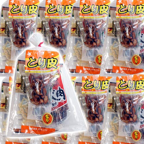 広島名物!とり皮とせんじ肉とおつまみお菓子袋詰め B 20袋セット 詰め合わせ 駄菓子 おかしのマーチ