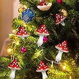 Adornos de setas de Navidad personalizados de cristal rojo con pinza de cocodrilo, colgantes para decoración de árbol de Navidad (24 piezas)