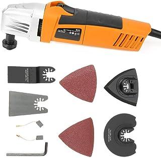 11000-22000 rpm Rectificadora de ángulo AC 110V 2.8 ° Máquina de pulido de ángulo oscilante Amoladora de ángulo eléctrica Juego de herramientas para corte, esmerilado y pulido