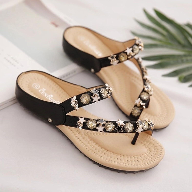 LI SHI XIANG SHOP Slippers Pregnant Women Flip-Flops Fashion Female Summer Slippers Clip Toe Outdoor Korean Version Non-Slip Summer Beach shoes
