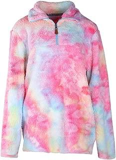 Womens Zipper Fleece Long Sleeve Sherpa Pullover Fuzzy Warm Sweaters Winter Autum Outwear