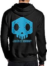 LiyiFF Men's Overwatch OW Sombra Hoodie Sweatshirt