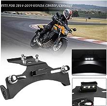 FATExpress License Plate Holder for 2014-2019 Honda CB650F CBR650F Motorcycle Accessories Black Tail Light Bracket Mount Tidy Fender Eliminator CB CBR 650F 2015 2016 2017 2018 14-19