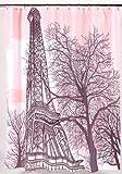 Carnation Home Fashions Duschvorhang Tour Eiffel aus Stoff