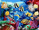 Margot de Paris Tapestry/bordar Lienzo – peces tropicales (Acuario)