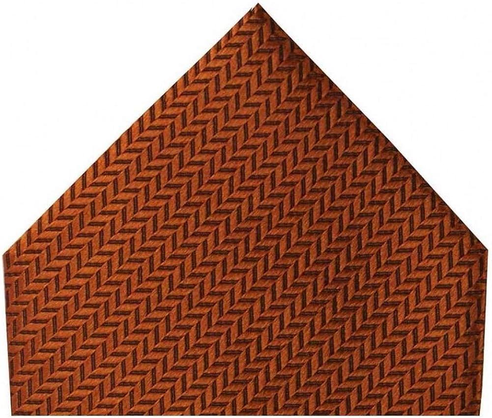 David Van Hagen Mens Herringbone Silk Handkerchief - Rust Orange
