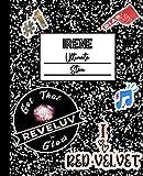 Irene Ultimate Stan: Red Velvet Mock Sticker Filled Kpop Bias Merch Notebook 7.5 x 9.25' College Ruled Composition School Style Paperback Journal Book for ReVeluv Fan (Red Velvet Irene School Series)