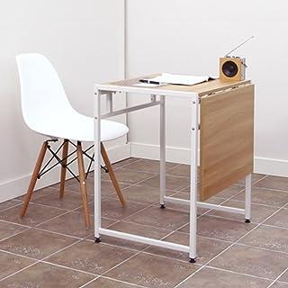 Tables HAIZHEN Pliable Pliante à Double télescopique à Manger en Acier en Bois Stations de Travail informatiques (Couleur ...