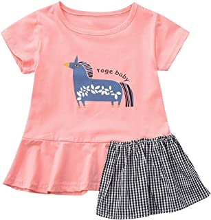 Pantalones Trajes Conjunto de Ropa para Beb/és Ni/ños 6meses-4 a/ños Holatee Ropa Beb/é Ni/ños 2Pcs Camiseta Manga Larga Estampado de Mariposa