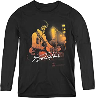 Jimi Hendrix Live On Stage Adult Long Sleeve T-Shirt for Women
