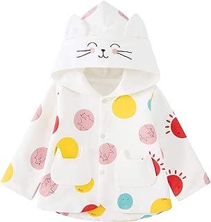 pureborn Baby Girls Toddler Kids Ears Hooded Spring Cute Coat Jacket Outwear