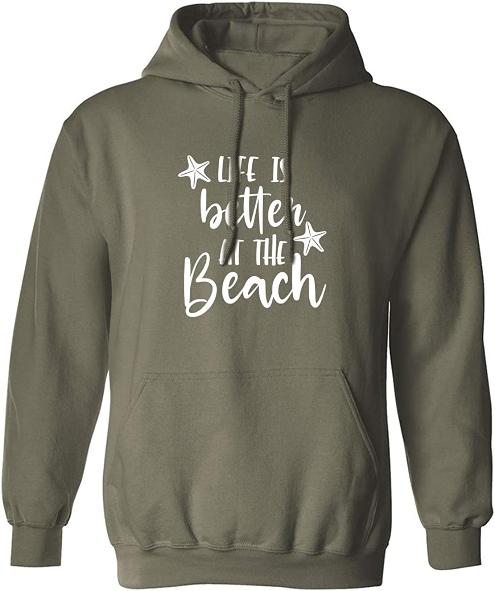 Life Is Better At The Beach Adult Hooded Sweatshirt