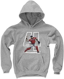 500 LEVEL Yadier Molina St. Louis Baseball Kids Hoodie - Yadier Molina Outline