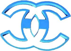 Cuticuter Chanel Logo Cookie Cutter, Blue
