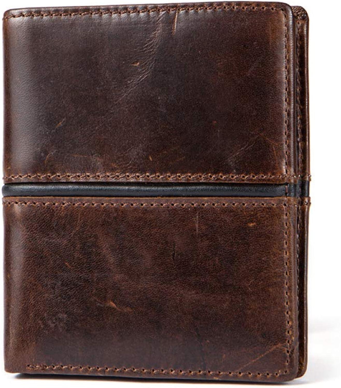 GAOQQ Männer Ultra-Thin Wallet Wallet Wallet Faltbare Hochwertige Leder Kurze Brieftasche,B B07GNF13MV 128767