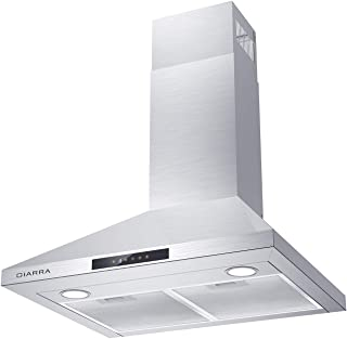 CIARRA 30 inch 450 CFM Stainless Steel Wall Mount Range Hood