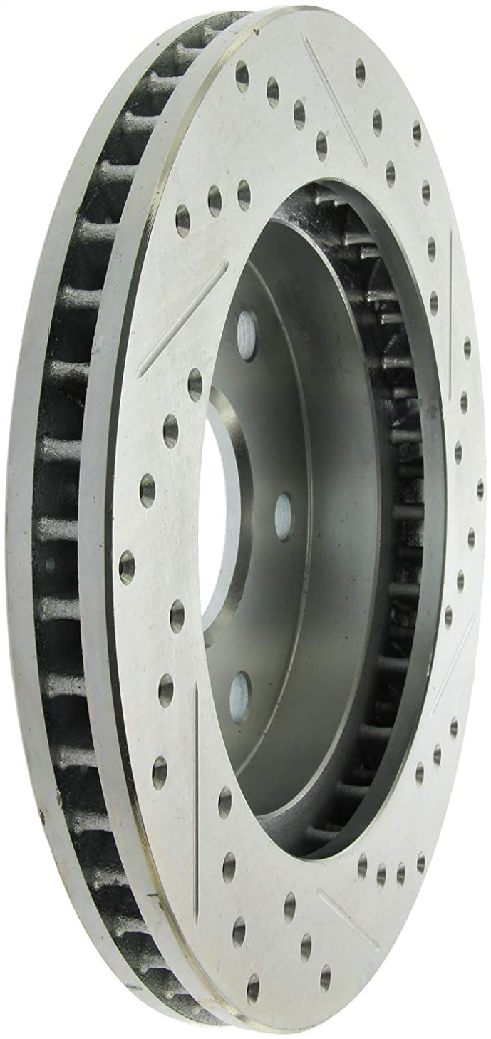 StopTech 227.66040R Select Sport Drilled and Slotted Brake Rotor; Front Right