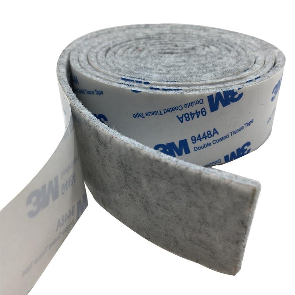 司法マントル利益Tetedeer 床のキズ防止テープ 自由にカットして使用可 幅3cm 長180cm (グレー)