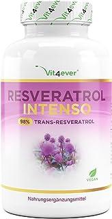 Resveratrol met 500 mg per capsule - Premium: 98% trans-resveratrol van Japans duizendknoop-extract - 60 capsules - Verbet...