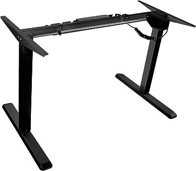 Mount-It! Electric Standing Desk Frame, Single Motor Height Adjustable Motorized Stand Up Desk, Ergonomic, Programmable, Memory and Timer Function, Black