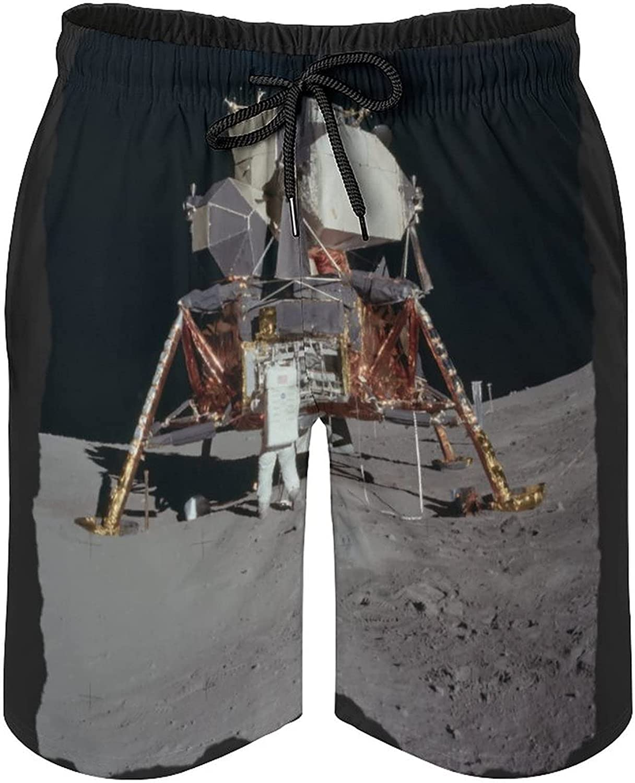 Moon Apollo Men's Summer Quick Dry Swim Trunks Casual Board Shorts Beachwear for Boys Men