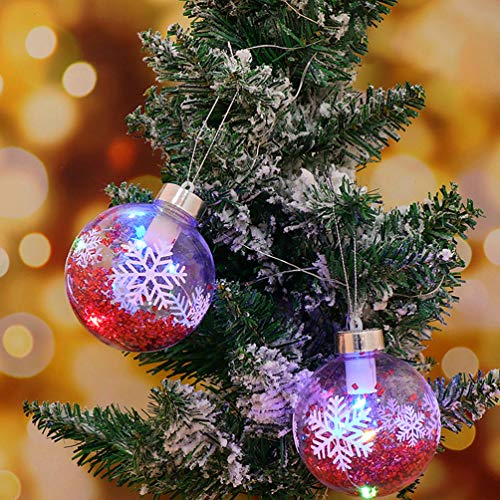 OSALADI Pack of 6 Christmas Ball Ornament Lights Hanging LED Decorative Lights Pendant Ball Light Gifts for New Year Gift Party