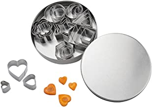 BESTONZON Geometric Cutter Shapes Set (24 Piece) Mini Cookie Cutters, Stainless Steel Cookie Cutters for Kids