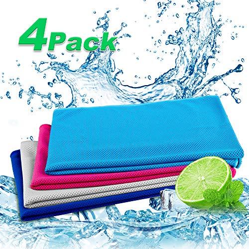 Nasharia Cooling Towel, Kühltuch Kühlhandtuch Set Sofortige Relief Eiskalt Kühlen Handtuch Atmungsaktives Mesh Schweißsaugfähig Für Fitness Gym Golf Yoga Laufen Sports Übung Sommer
