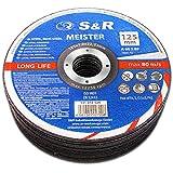 S&R 25 Discos de corte 125 Hierro Metal y Acero INOX .Set de 25...