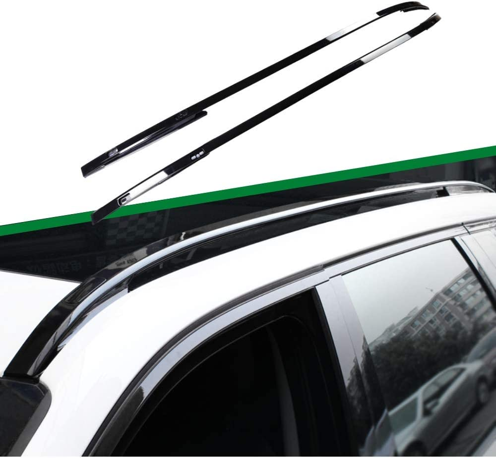 Black Luggage Baggage Roof Rack Rail Cheap mail order shopping Disc New Max 67% OFF Fit Rover Land Bar