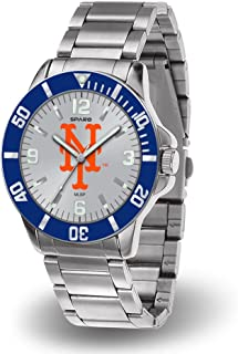New York Mets Key Watch with Stainless Steel Band by Rico
