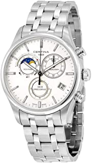 Certina DS- 8 Chrono Moon Phase Stainless Steel Mens Quartz Watch C0334501103100