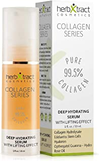 HerbXtract Deep Hydrating Serum Eye Gel for Dark Circles, Puffiness Wrinkles, Bags and Under Eye Treatment, Anti Aging Skin Care Serum for Face Fine Lines Crow's Feet, Neck and Decollete 1 Fluid Ounce