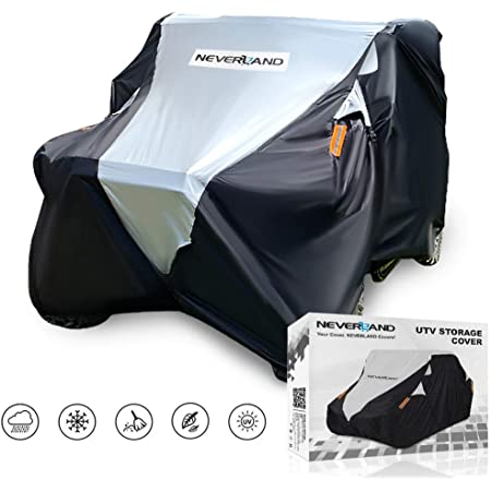 UTV Cover, Deluxe Waterproof Heavy Oxford Material for Polaris RZR Yamaha YXZ Can-Am Maverick Honda Pioneer Kawasaki Wildcat 2-3 Passenger