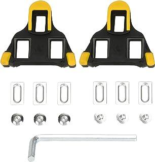 Beststar - Juego de tacos para bicicleta (autobloqueantes, para ciclismo y bicicleta de carretera, compatible con zapatos Shimano&Look #81539)