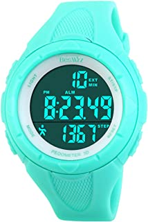 Digital Watches Outdoor Sport Waterproof Step Counter Multi-Function Swimming Wistwatches with Alarm Stopwatch Watches