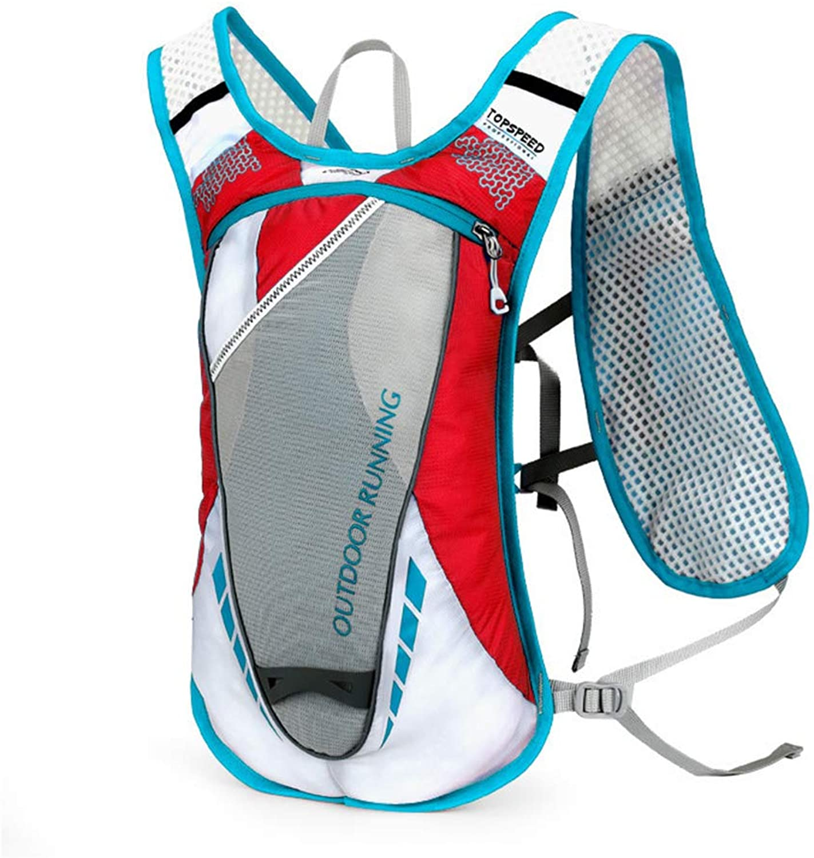 HYRL Sport Outdoor Rucksack, Ultralight Breathable Cycling Rucksack Waterproof Double Shoulder Riding Bag geeignet für Wandern Outdoor Kletterrennen,rot