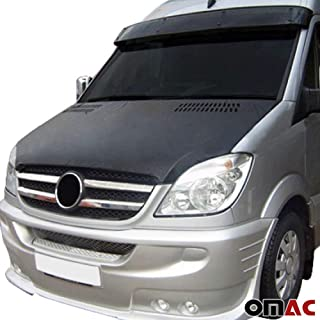OMAC USA Front Hood Cover Mask Black Vinly Bonnet Bra Stoneguard Protector for Mercedes Sprinter W906 2006-2013