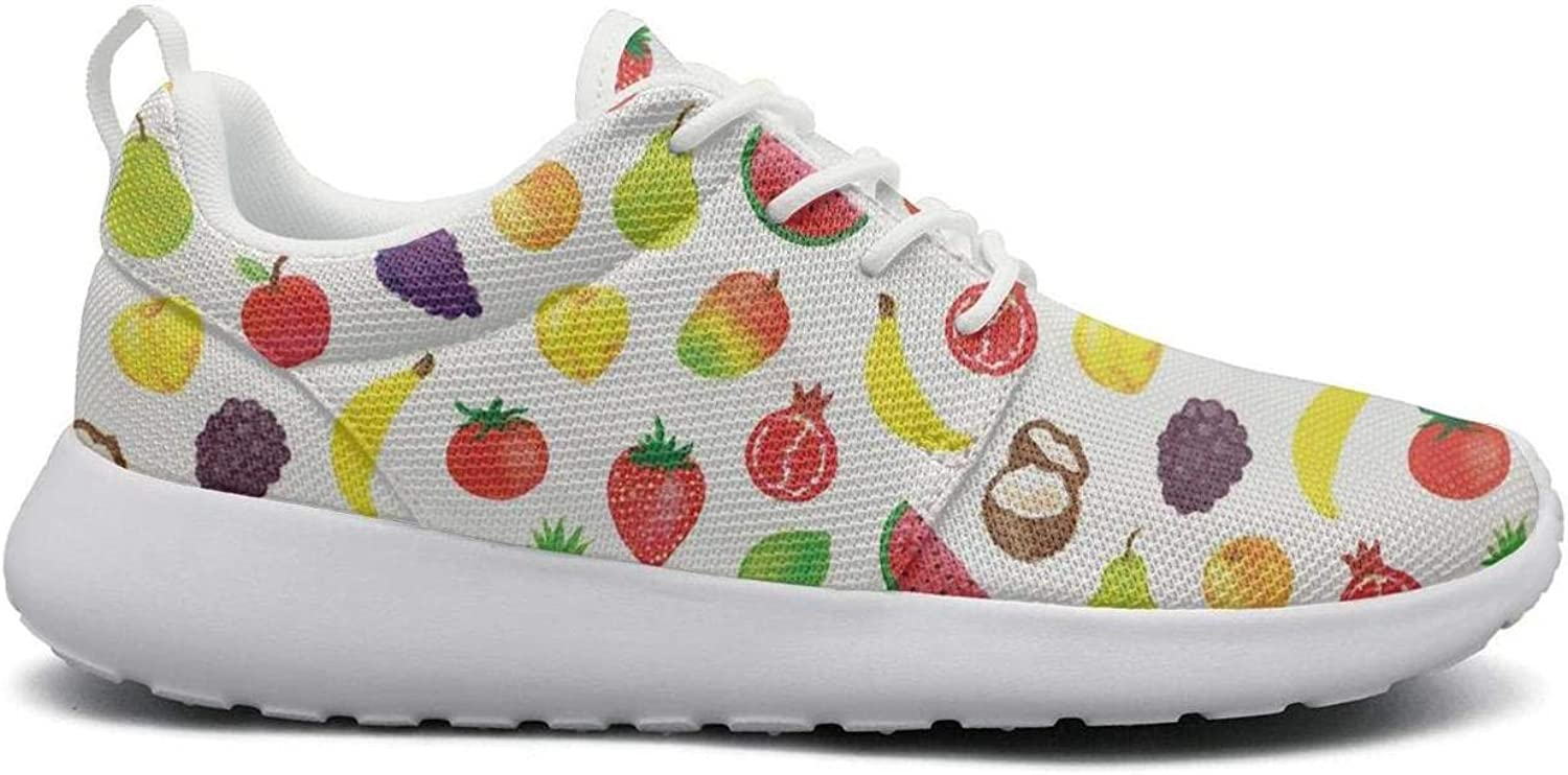 Ipdterty Wear-Resistant Camping Sneaker colorful Fruits Women Fashion Athletic Running shoes