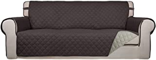 Best PureFit Reversible Quilted Sofa Cover, Water Resistant Slipcover Furniture Protector, Washable Couch Cover with Non Slip Foam and Elastic Straps for Kids, Dogs, Pets (Sofa, Chocolate/Beige) Review